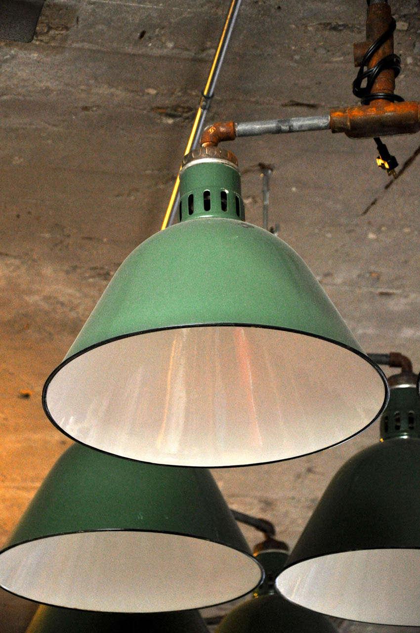 Double Pendant Industrial Light Fixture For Sale 1