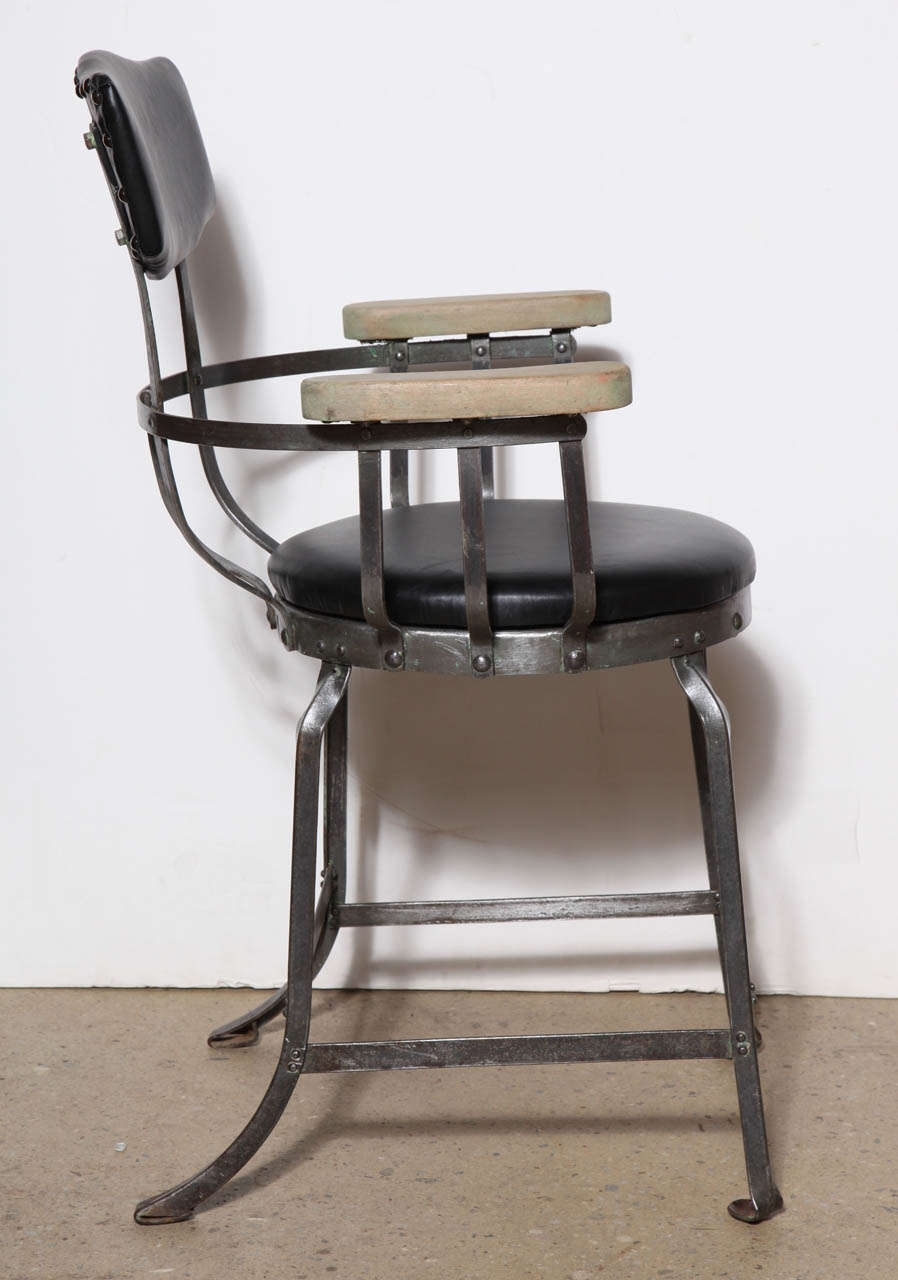 Industrial brunswick arm chairs at stdibs