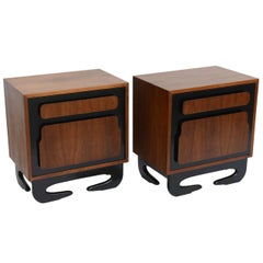 Extraordinary Mid Century Modern Bedside Tables  Nightstands