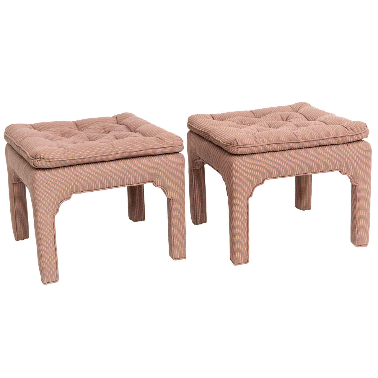Pair Of Milo Baughman Style Tufted Upholstered Benches At 1stdibs