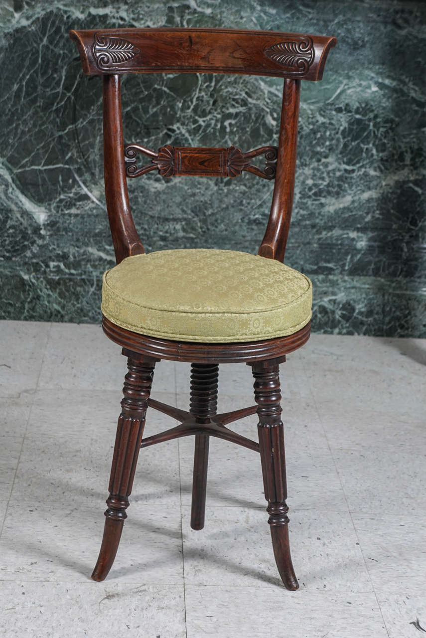 William Iv Rosewood Piano Stool At 1stdibs