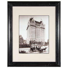 Vintage Sepia-Toned Photograph of the Plaza Hotel, circa 1900