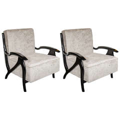 Pair of Mid-Century Modernist Arm or Club Chairs in the Manner of Billy Haines
