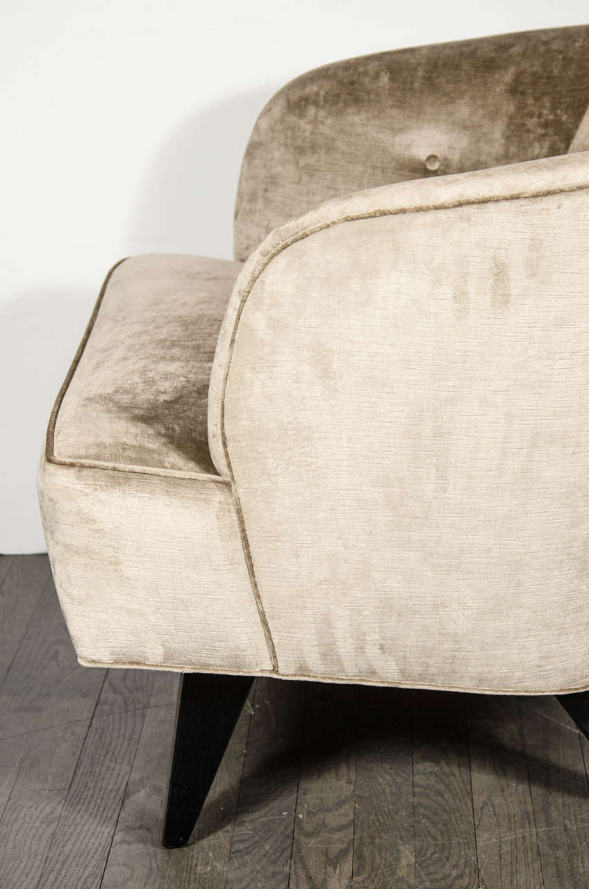Mid century modernist curved back club chair is no longer available