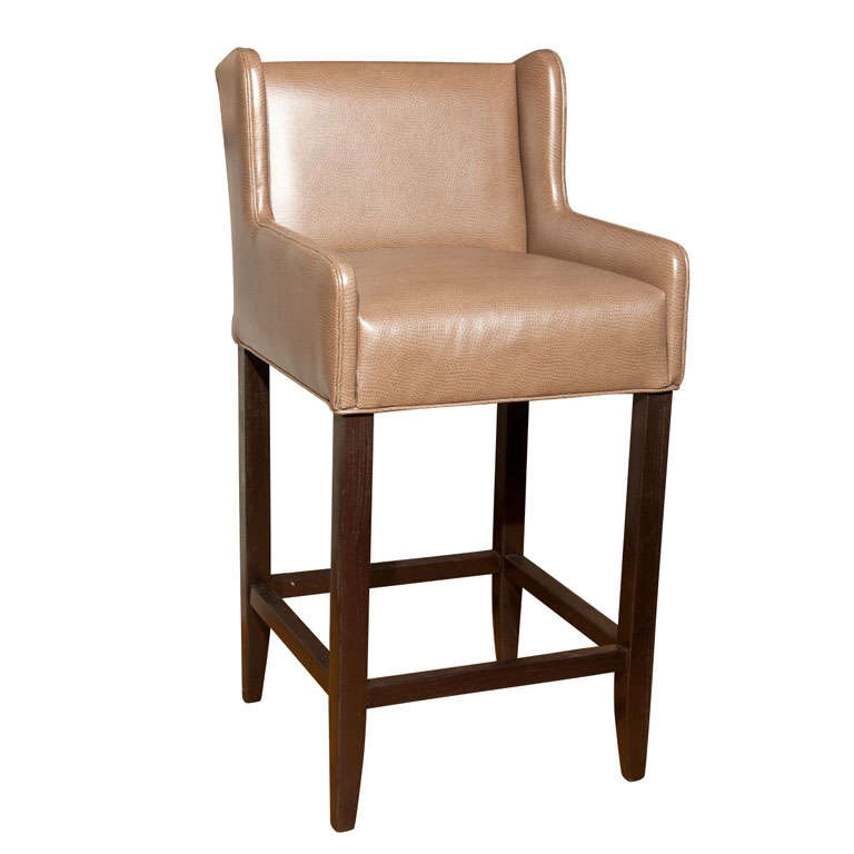 Leather Bar Stool At 1stdibs