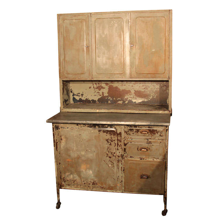 Steel step back cabinet at 1stdibs for Beauty queen kitchen cabinets