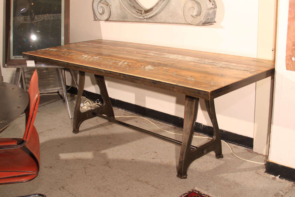 barnwood dining table at 1stdibs