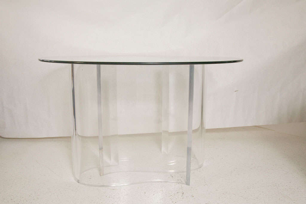 Dining table round lucite dining table for Table design with div