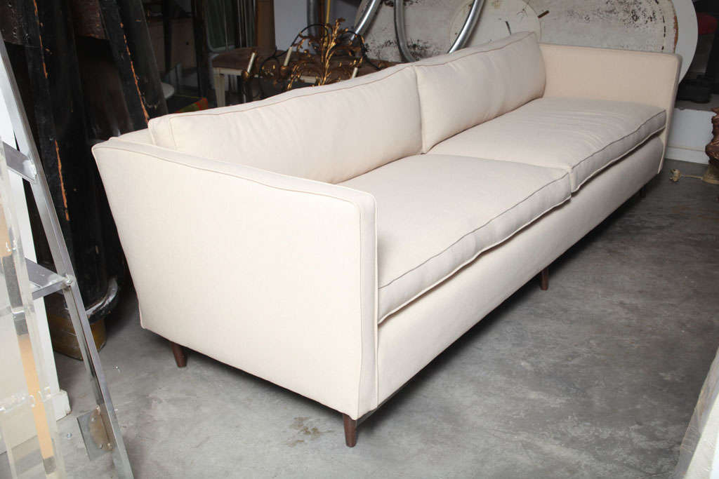 Mid Century Modern Paul Mccobb Tuxedo Sofa image 2