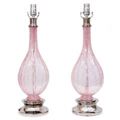 Pair of Murano Lamps.