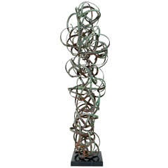 Signed Abstarct Metal Sculpture