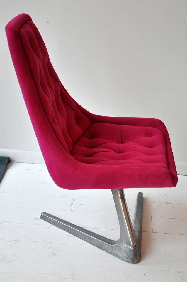 Pink Swivel Chair At 1stdibs