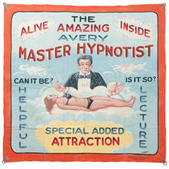 Master Hypnotist Banner by Fred G. Johnson