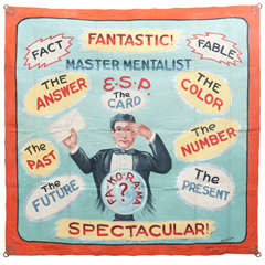 Master Mentalist Sideshow Banner by Fred G Johnson