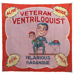 Veteran Ventriloquist Sideshow Banner By Fred G Johnson