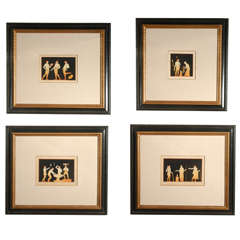 Set of Four Sir William Hamilton Copper Engravings