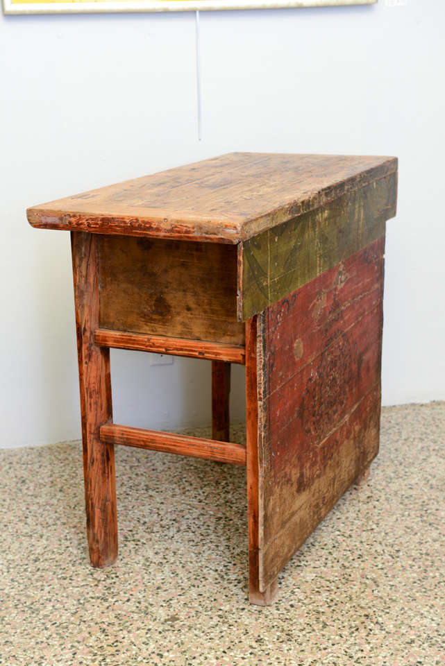 19th antique asian alter table in original paint for sale for Asian antiques west palm beach