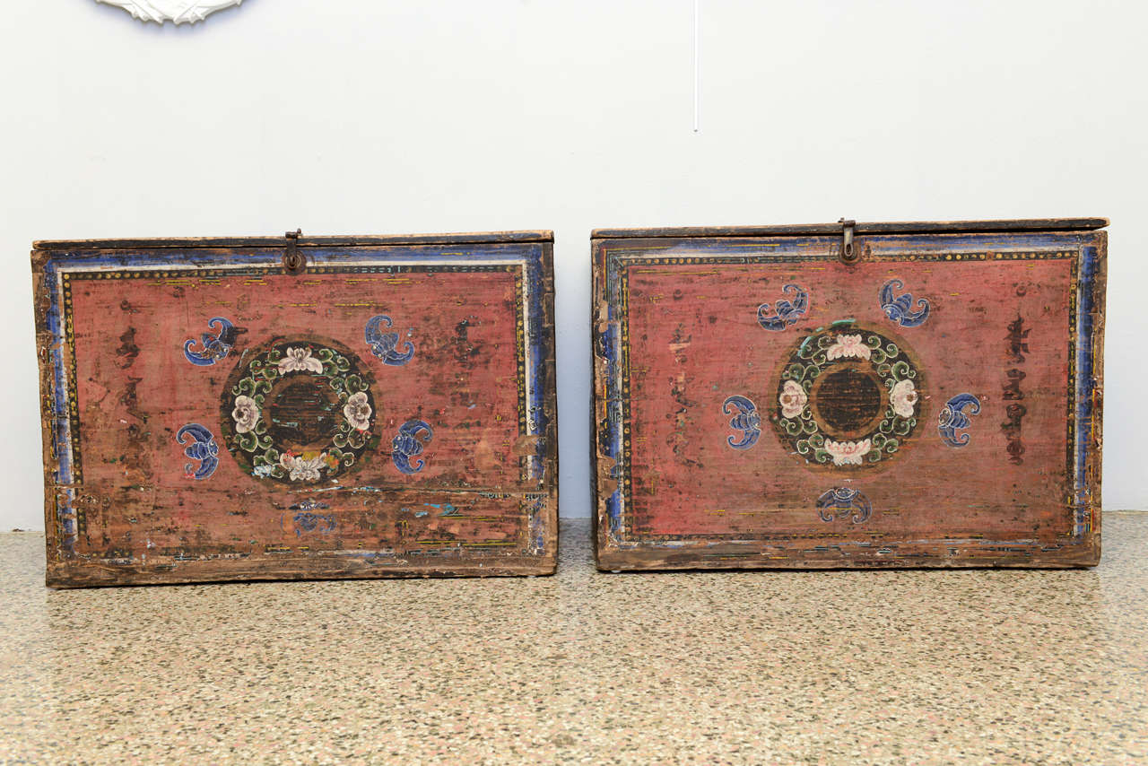 18th century pair of antique mongolian chests for sale at for Asian antiques west palm beach