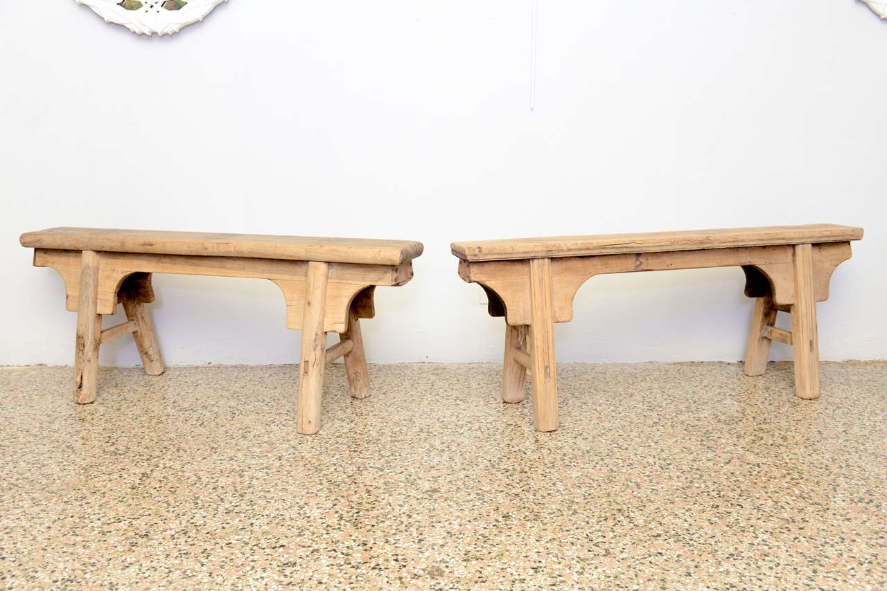 A pair of antique chinese benches 19th century at 1stdibs for Asian antiques west palm beach