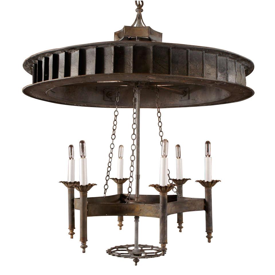 Industrial Chandeliers Lighting : Industrial chandelier at stdibs