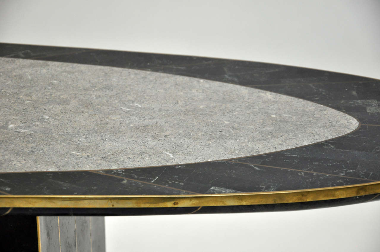 Maitland Smith Tessellated Stone Console In Excellent Condition In Chicago, IL