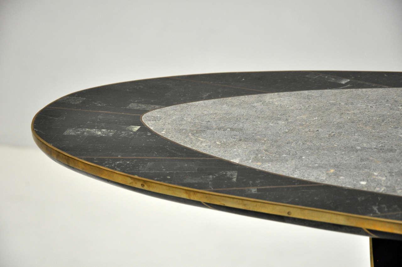 Late 20th Century Maitland Smith Tessellated Stone Console