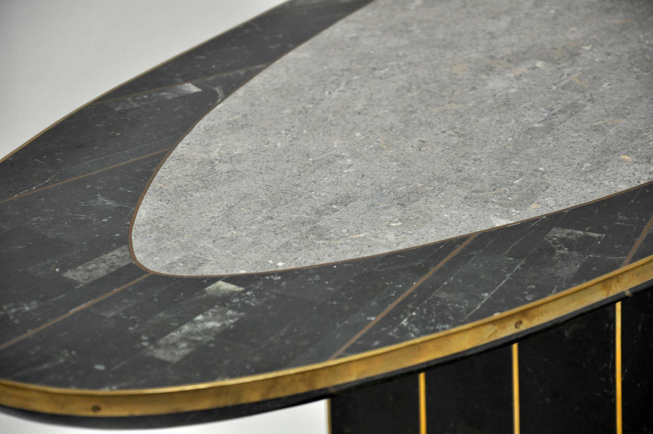 Maitland Smith Tessellated Stone Console 3
