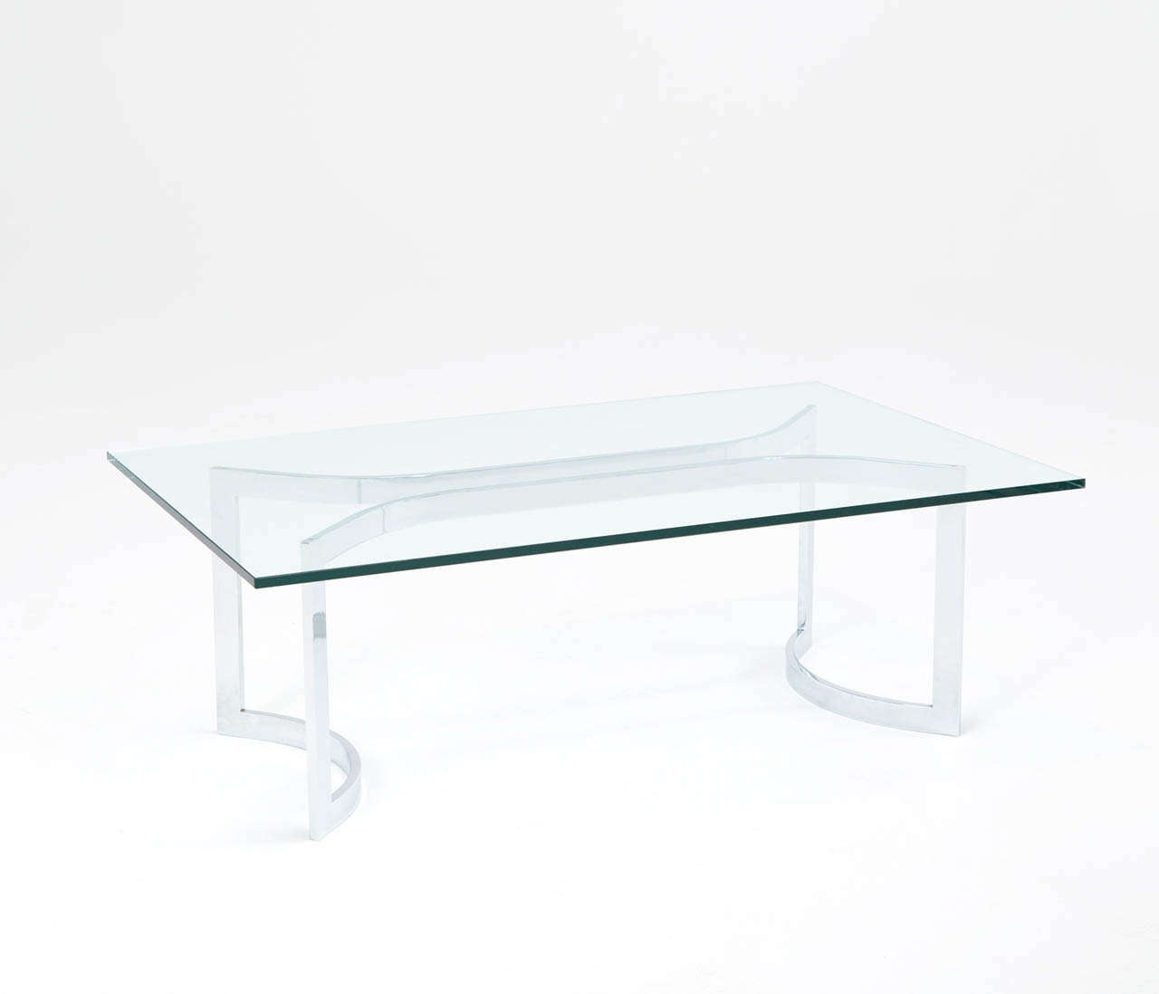 Mid-Century Modern A Sculptural Mid-Century Chrome Plated Cocktail Table For Sale