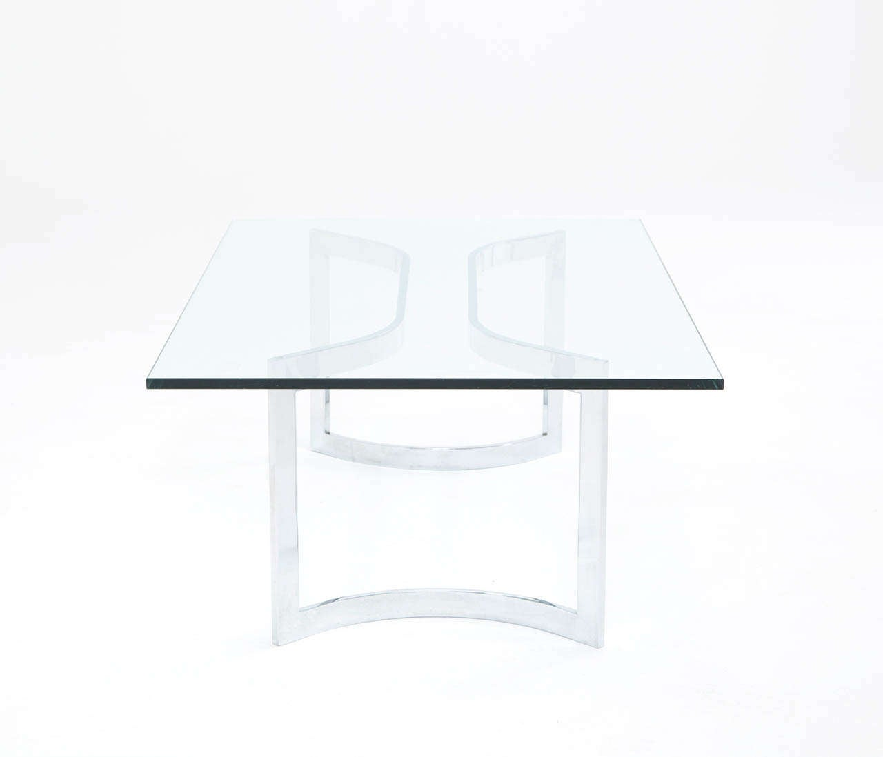 Late 20th Century A Sculptural Mid-Century Chrome Plated Cocktail Table For Sale