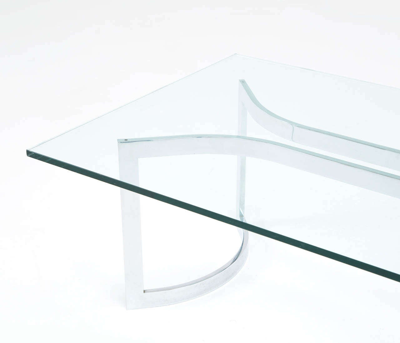 A Sculptural Mid-Century Chrome Plated Cocktail Table For Sale 1