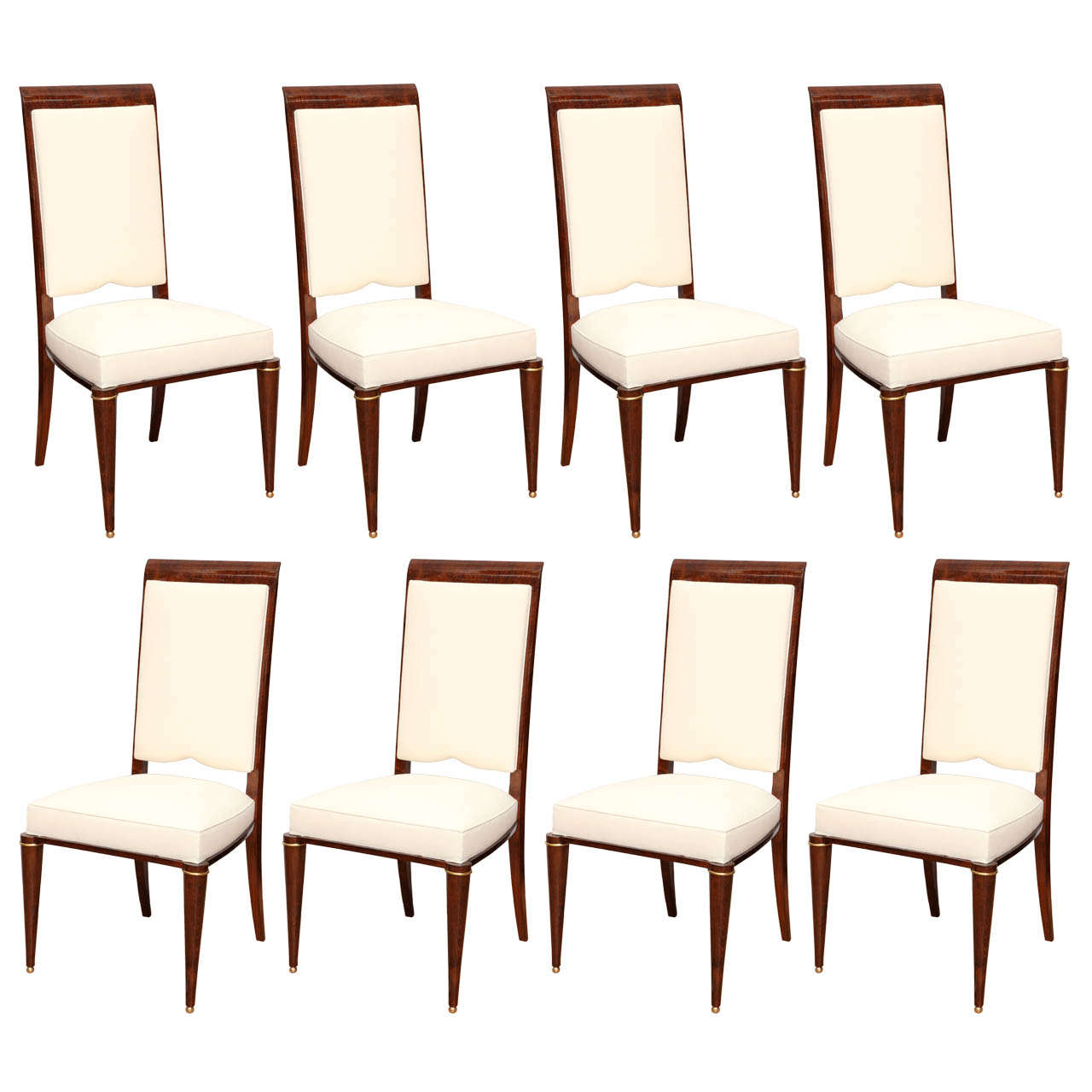 Suite Of Eight French Art Deco Dining Chairs For Sale At