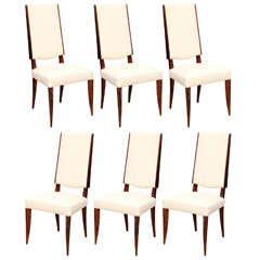 Suite of Six Art Deco Dining Chairs
