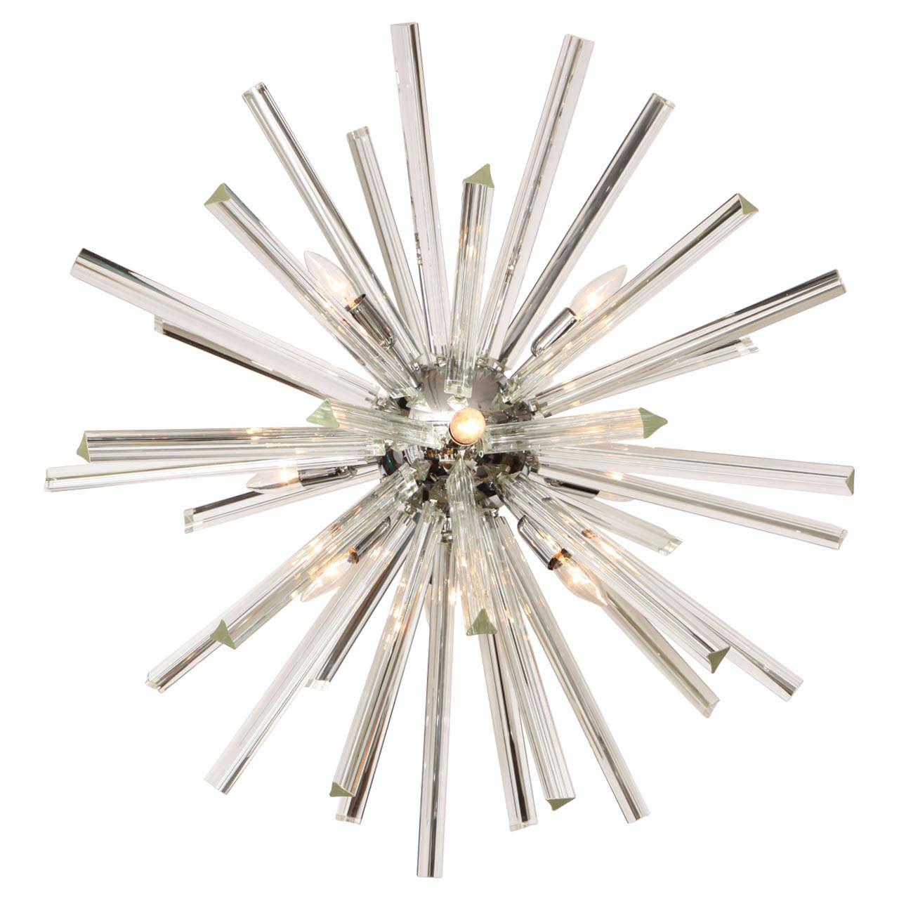 Chandelier sputnik at 1stdibs for Sputnik chandelier