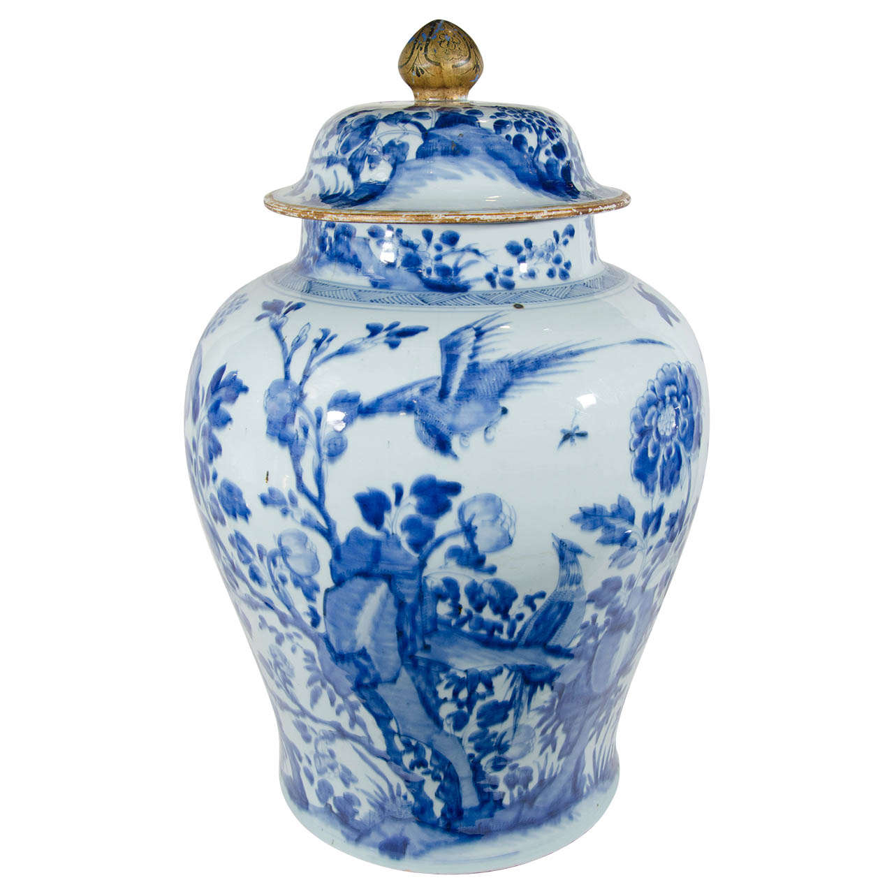 Delightful Blue And White Jars Part - 12: A Massive Blue And White Kangxi Covered Temple Jar 1