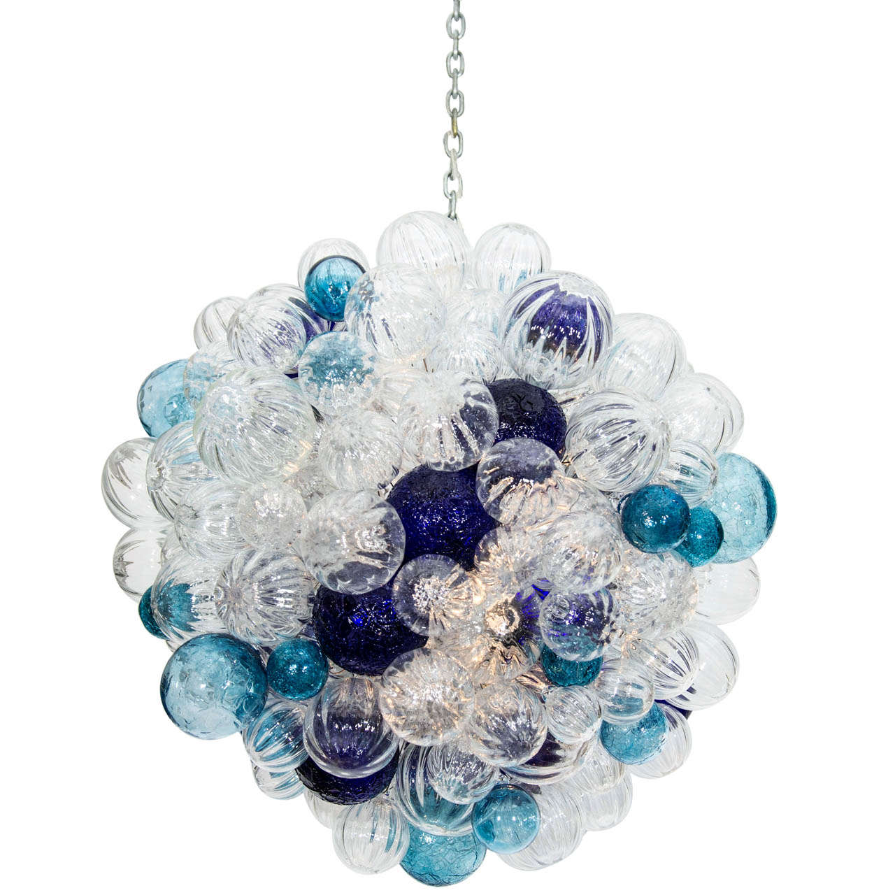 large glass bubble chandelier at 1stdibs