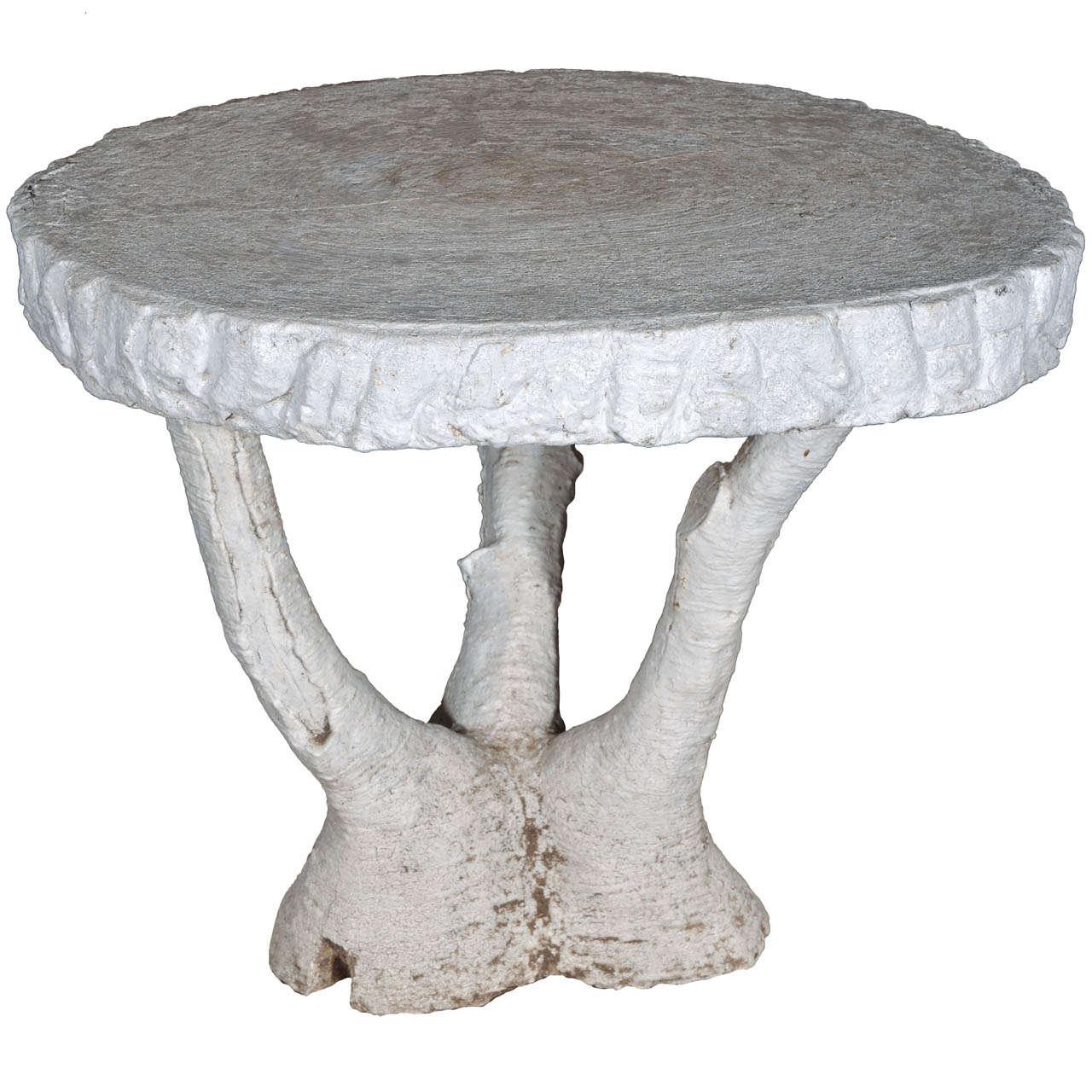 Vintage Faux Bois Table at 1stdibs ~ Table Bois Vintage