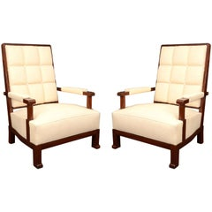 Pair of Armchairs in the Manner of Paul Dupre-Lafon