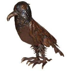 Bird Sculpture in Mixed Metal