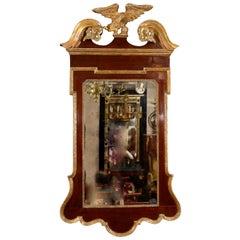 George II Scroll Top Mirror