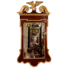 George II Scroll Top Mirror