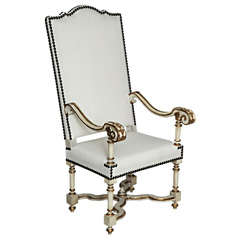 Elegant Italian Fauteuil or Armchair, Pair Available