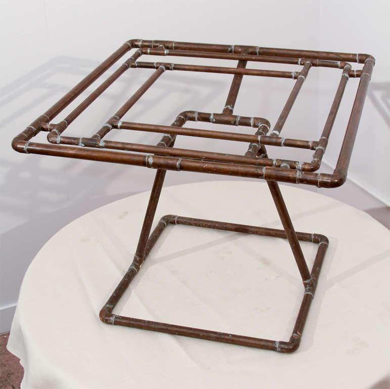 Folk Art Copper Tubing Table Base At 1stdibs