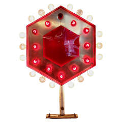 Double-Sided Flashing Hexagonal Light