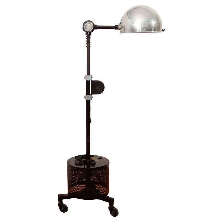 Wall Lamp Height From Floor : Adjustable height industrial floor lamp at 1stdibs