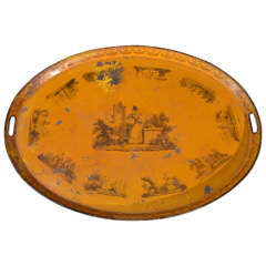 19th C. French Tole Tray