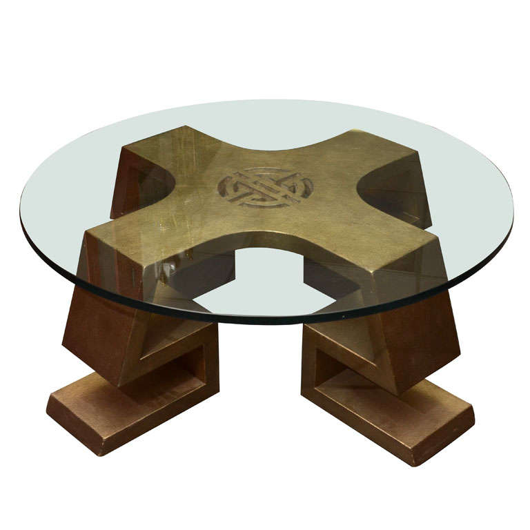 Fabulous Asian Inspired Coffee Table By James Mont At 1stdibs