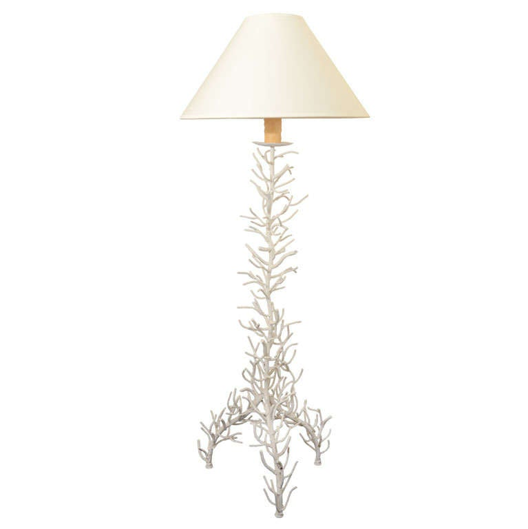 Large White Coral Floor Lamp At 1stdibs