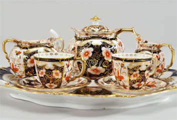 Royal Crown Derby Imari Tete a Tete on Matching Tray thumbnail 2