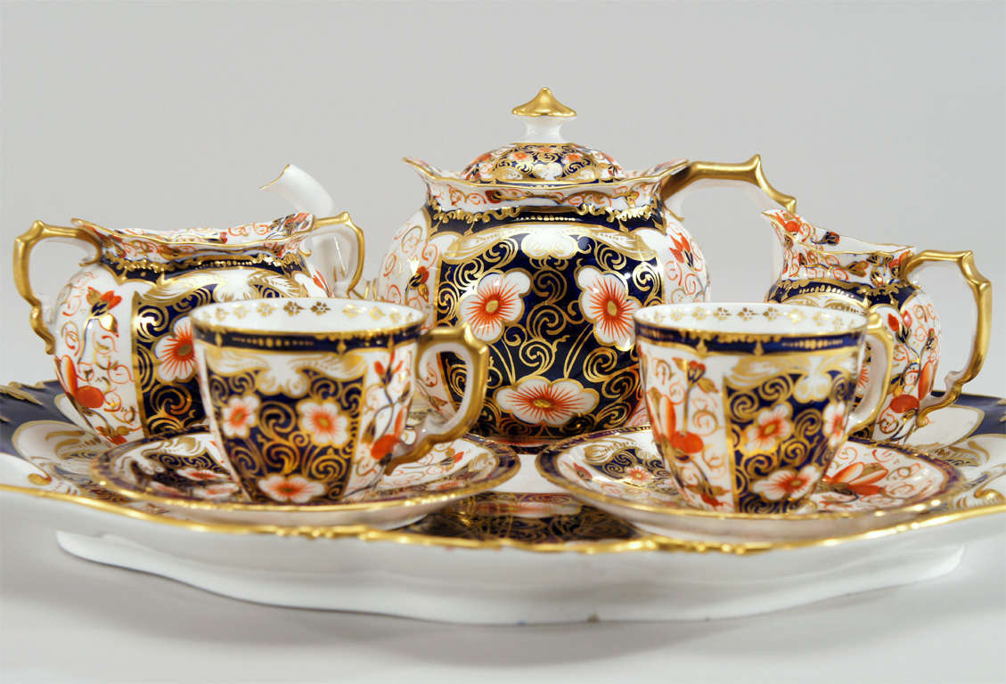 Royal Crown Derby Imari Tete a Tete on Matching Tray image 2