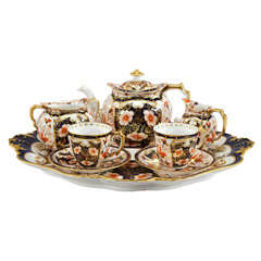 Royal Crown Derby Imari Tete a Tete on Matching Tray thumbnail 1